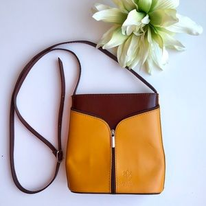 Vera Pelle Leather Italy Brown Small Purse